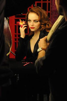 Emma Stone shooting for Revlon's new Shanghai collection