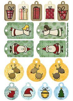 Imprimibles navideños. :)