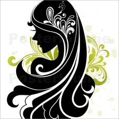Silhouette Artwork | black hairs © onfocus