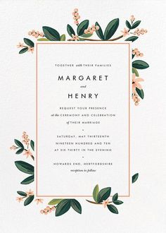 November Herbarium (Invitation) - Paperless Post #weddinginvitation