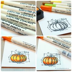 Weekender with Wanda + Tim Holtz Distress Ink Color Pop! Carved Pumpkin!  | Simon Says Stamp Blog