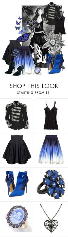 """""""goth1"""" by princessinme ❤ liked on Polyvore featuring Balmain, Aerie, Karen Zambos Vintage Couture, CÉLINE, Chloé, Oasis, Cameo, BKE and goth princess"""