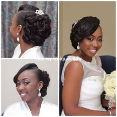 Nigerian Wedding: 30 Gorgeous REAL Bridal Hair Inspiration & Ideas - Bride & Wedding Network : Explore & Discover the best and the most trending wedding ideas Around the world Black Wedding Hairstyles, Romantic Hairstyles, Black Girls Hairstyles, Bride Hairstyles, Unique Hairstyles, Hairstyle Wedding, Bridesmaid Hairstyles, Formal Hairstyles, Hair Wedding