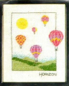 "VINTAGE DMC LANARTE HORIZONS ""HOT AIR BALLOONS"" COUNTED CROSS STITCH KIT ~ NIP #Lanarte #Frame Dmc, Counted Cross Stitch Kits, Hot Air Balloon, Playroom, Stitches, Balloons, Projects To Try, Vintage, Ebay"