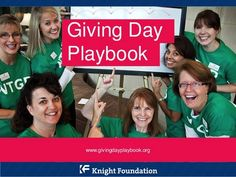 A Playbook from the Knight Foundation help jumpstart your #GivingTuesday campaign
