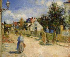 Camille Pissarro:A Street in Pontoise