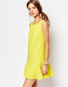 Image 1 ofSuncoo Drop Waist Dress in Yellow