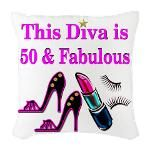 50TH PRIMA DONNA Burlap Throw Pillow http://www.cafepress.com/jlporiginals/12446826 #50thbirthday #50yearsold #Happy50thbirthday #50thbirthdaygift #50andfabulous #turning50  #happy50th