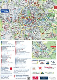 Darmstadt hotels and sightseeings map