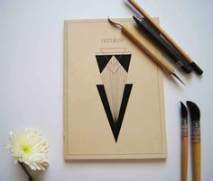 little notebook triangle geometric by ftillustrations on Etsy, €8.00