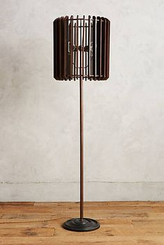 Slatted Woodchime Floor Lamp/bamboo placemats