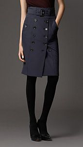 TRENCH DETAIL PENCIL SKIRT