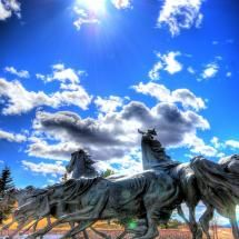 ~~Briargate Mustangs Fantastic ~ sculpture by T. Kelsey, Located in a really nice community called Briargate in the heart of school district biggest district in Colorado Springs. Mustangs, Colorado Springs, Visit Colorado, Mustang Cobra, Nature Aesthetic, Pikes Peak, Horse Sculpture, Best Places To Live, Equine Art