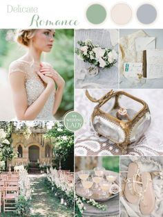 Natural Romance for an Ethereal Garden Wedding in Organic Blue and Green Shades | ‎http://heyweddinglady.com/natural-romance-ethereal-garden-wedding/