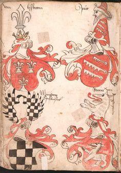 Wernigeroder (Schaffhausensches) Wappenbuch Süddeutschland, 4. Viertel 15. Jh. Cod.icon. 308 n  Folio 148v