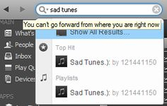 Thanks a lot, Spotify. Just shut up and let me listen to my sad tunes.