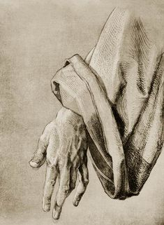 Dürer, Hand of Apostle / Draw./ - Albrecht Dürer as art print or hand painted oil. Life Drawing, Figure Drawing, Drawing Sketches, Art Drawings, Albrecht Durer Paintings, Hand Kunst, Tarot, Jesus Drawings, Illustrations Poster