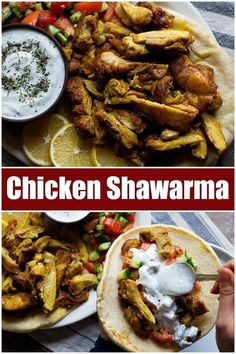 mediterranean recipes This chicken shawarma recipe is going to change your life! Learn how to make homemade chicken shawarma and serve it with pita, Mediterranean salad and a del Chicken Schwarma Recipe, Chicken Recipes, Chicken Shawarma Sandwich, Chicken Shawarma Wrap Recipe, Mediterranean Chicken, Mediterranean Diet Recipes, Chicken Pita, Chicken Salad, Lebanese Recipes
