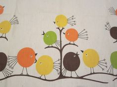 mod birds fabric -  how bout something like this to cover the pantry?