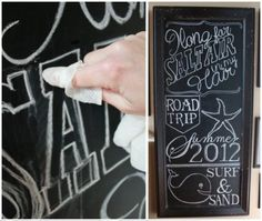 Great chalkboard art tutorial.