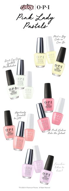 Find your perfect summer pastel shade with our OPI Grease Collection