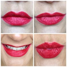 Red lips using GOSH Velvet Touch lipstick in Divine