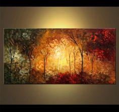 Moderne Spachtel Malerei abstrakte Landschaft von OsnatFineArt