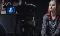 scare campaign movie girl and camera