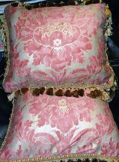 Pair Fortuny Designer Pillows Vivaldi Pattern by ElegantArtifacts, $650.00