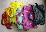 big and small bags. variety of colors