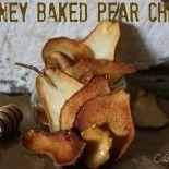 ~Honey Baked Pear Chips!
