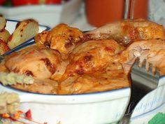 Курица в горчично-сырном соусе