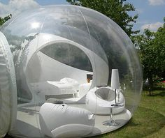 If you're into camping, 360-degree sheltered views and have $9,000 to spare, these see-through bubble tents are pretty amazing. Perfect for me since I hate bugs.