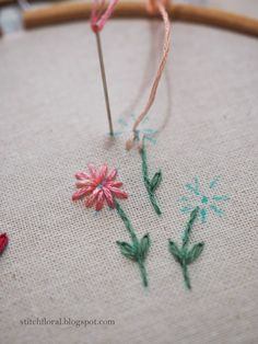 How to use variegated thread in hand embroidery Embroidery Thread, Embroidery Designs, Shading Techniques, Big Flowers, Dark Colors, One Color, Shades Of Blue, Being Used, Hand Stitching