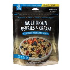 Bannock MultiGrain Berries  Cream Granola  1 Pouch  25 Servings  Freeze Dried Camping Hiking  Backpacking Meals  Cook in Pouch Camp Food *** Continue to the product at the image link.