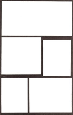 Comic Frames Template Blank Empty Cartoon Strips 85 X
