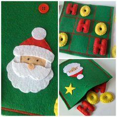 Christmas Tic Tac Toe Game Set Felt Santa от twinsandcrafts