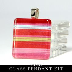If You Like Scrabble Pendants ... 6 Square Glass Pendant DIY Kit in Tin. DIY kit with supplies.. $12.00, via Etsy.