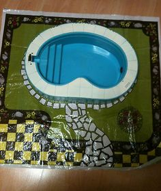 Vintage Retro Rare Sindy Pool by Pedigree - great for Barbies too! 1980s no box