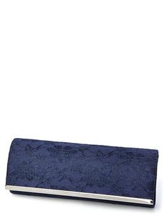 Navy All Over Lace Bag