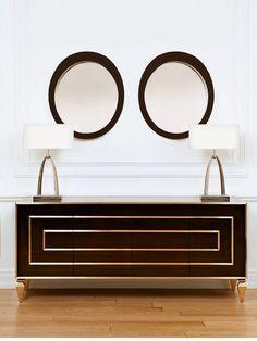 Modern Glamour epitomized in this sleek entryway