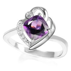 Cheap silver leopard, Buy Quality ring competition directly from China ring silver wedding Suppliers:  Precious Natural Amethyst With White AAA CZ 925 Sterling Silver Ring For Women Size 5 / 6 / 7 / 8 / Free Gift Bag 01235
