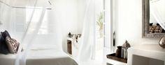 San Giorgio Mykonos Hotel in Mykonos, Greece is a luxury design hotel. San Giorgio Mykonos Hotel, between Paradise & Paraga Beach, offers stylish rooms. Design Hotel, San Giorgio Mykonos, Home Bedroom, Bedroom Decor, Outdoor Bedroom, Garden Bedroom, Bedroom Ideas, French Riviera Style, Mykonos Hotels