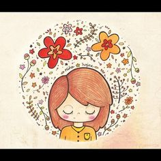 Resultado final, la primeritititita ilu del #2014, espero les guste. #acuarelas  sobre #papel #canaleto, 21.5 x 19.5 fondo en #ps (: #flores #flowers #watercolors #watercolours #sketch #sketchbook #draw #dibujo #design #diseño #girl #niña #hojas #nature #naturaleza #artwork #instadraw #ilustracion #ilustración #illustration #instasketch #cute #colores #colors #bonita #Padgram
