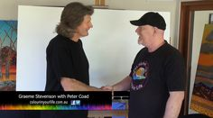 Colour in Your Life featured artist Peter Coad appeared on Colour In Your Life Season Eleven Seehis online episode here. Acrylic Painting Tutorials, Your Life, Acrylics, Tv Shows, Presents, Artists, Colour, Drawing, Abstract
