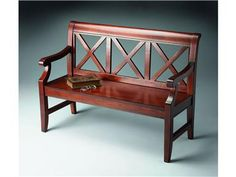 Shop for Butler Specialty Company Bench, 5048024, and other Living Room Benches at Ramsey Furniture Company in Covington, Georgia. This Alluring Transitional Bench Is A Welcome Addition To A Variety Of Spaces. Crafted From Select Hardwoods And Wood Products, It Features Bold Back Supports And A Mysterious, Lightly Distressed Plantation Cherry Finish.