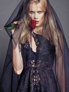 The Edit (weekly)  | Claudia Schiffer goes goth in this spread for the Net-A-Porter weekly.