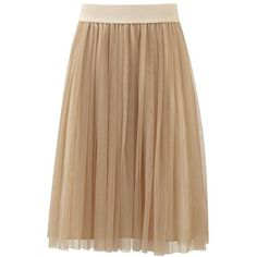 Fever Lulu Ballet Skirt in White Gold ($51) ❤ liked on Polyvore