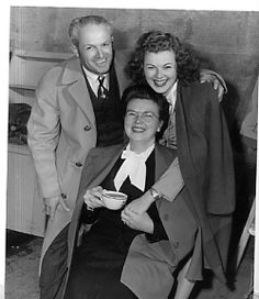 Barbara Hale with her parents mid 1940s