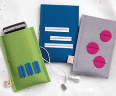 Great stocking stuffer!  Felt ipod/iphone cases.